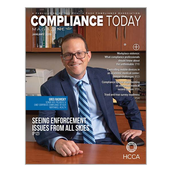 Compliance Today January 2019